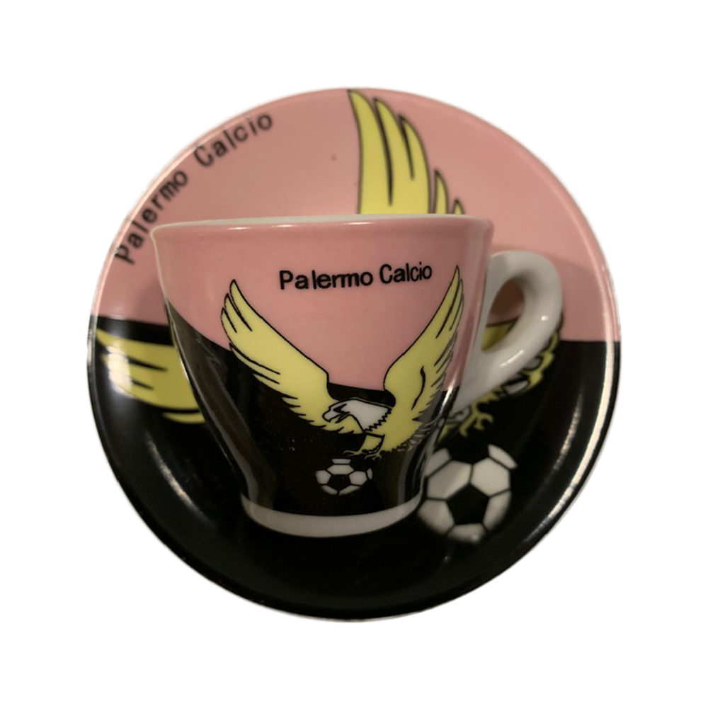 Espresso Cups with Palermo Soccer Team Logo