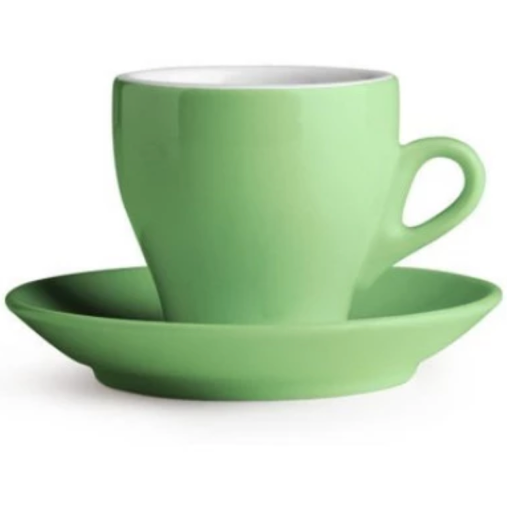 Green Nuova Point Espresso Cup in Milano Style available at Espresso Canada