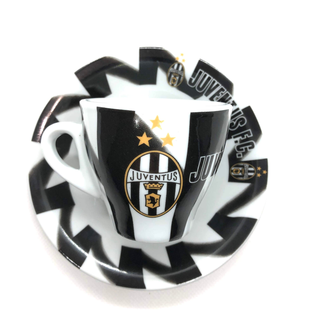 Serie A Italian Soccer Inter Espresso Cup and Saucer Front View