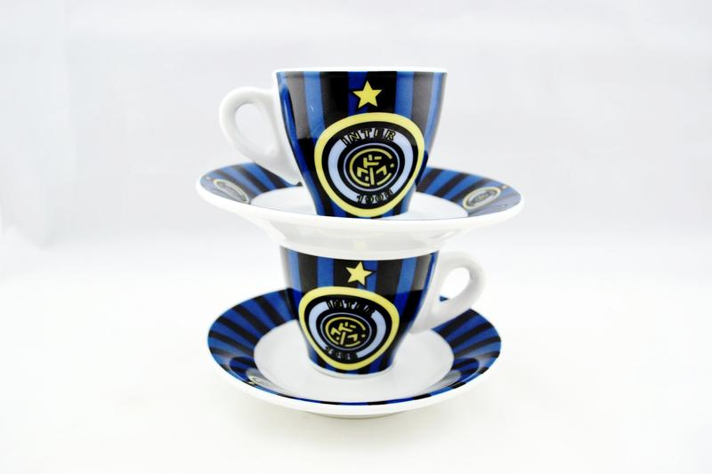 Espresso Cups⎮Porcelain 90 ml⎮Inter Italian Soccer Team