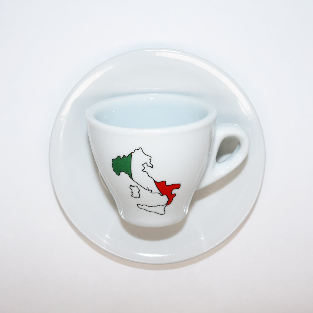 Porcelain Espresso Cup with Italian Boot