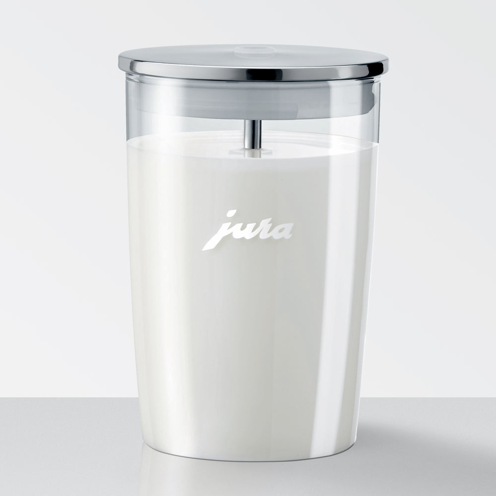 JURA Milk Container Glass Item no. 72570 Filled with Milk