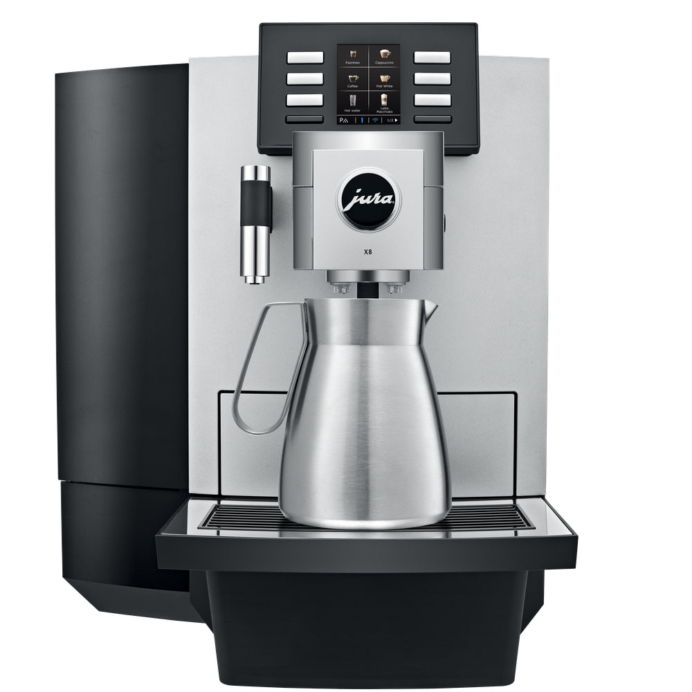 Jura X8 Coffee Machine Front View available at Espresso Canada