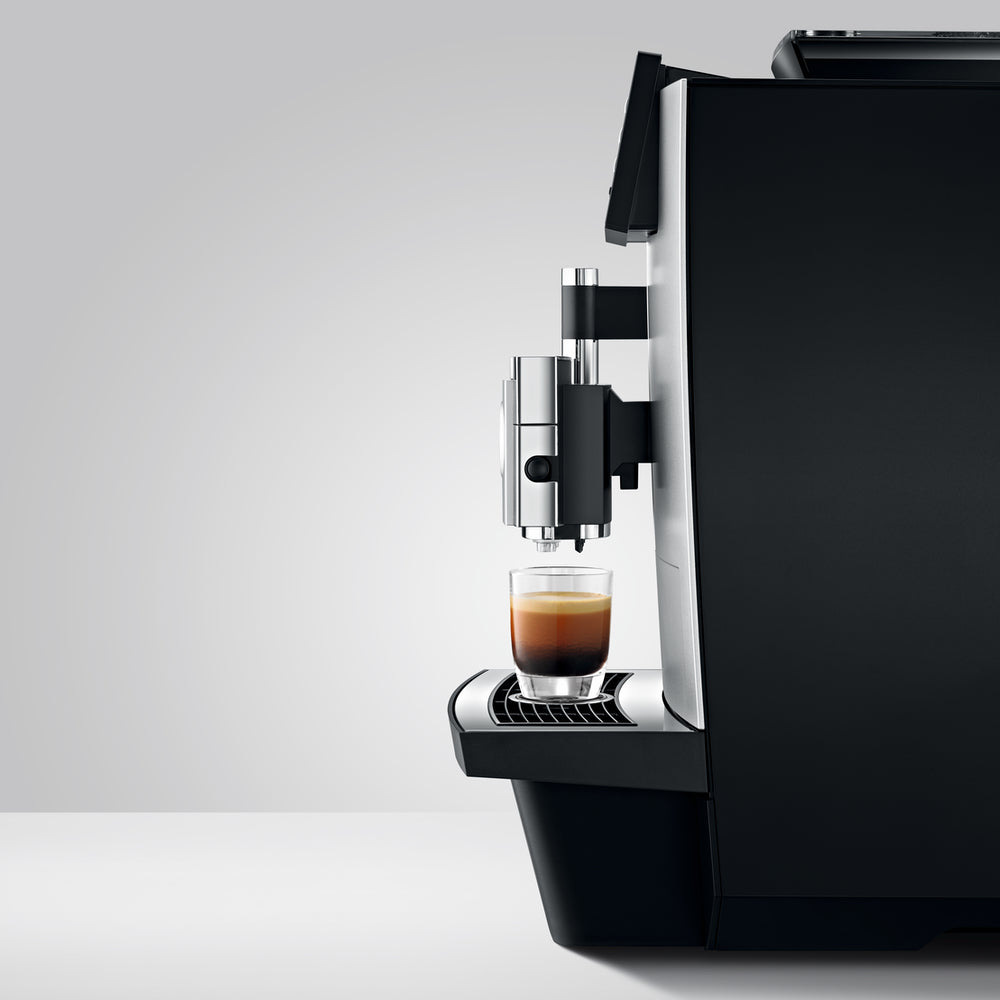 Jura X8 Coffee Machine Side View available at Espresso Canada