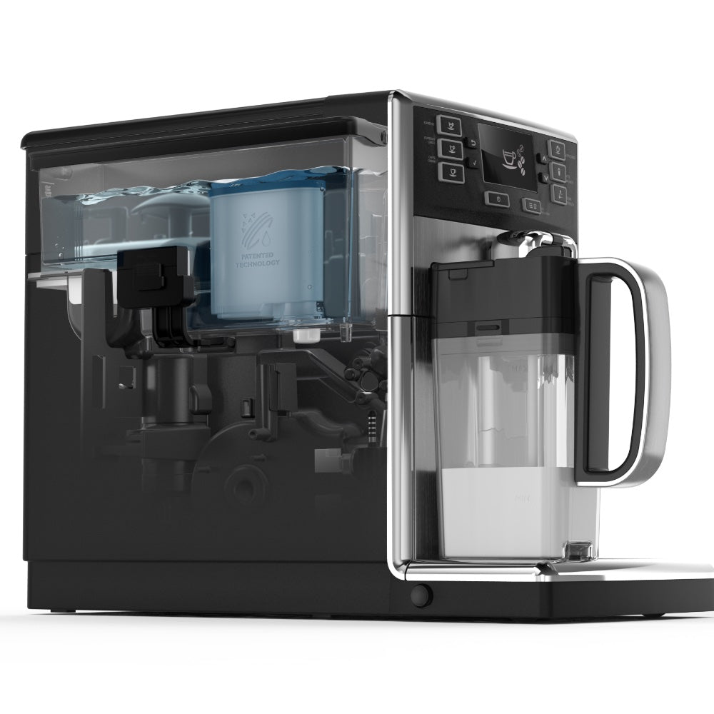 Saeco Espresso Machine showing AquaClean Water Filter