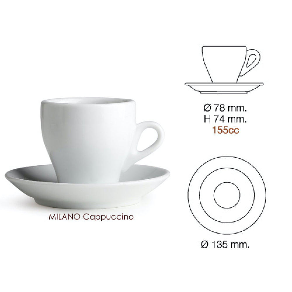 Nuova Point Cappuccino Cup Milano Cup Dimensions