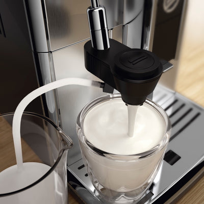 Saeco PicoBaristo AMF HD8924close up of Automatic Milk Foamer ⎮Espresso Canada