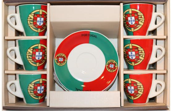Espresso Cups⎮Porcelain 90 ml⎮Portugal Soccer Team