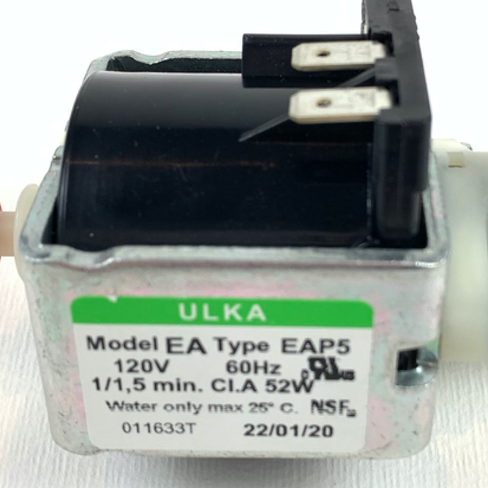 Close Up Ulka Pump Efp5/s 120V-60hz, Saeco Gaggia and DeLonghi replacement part Espresso Canada