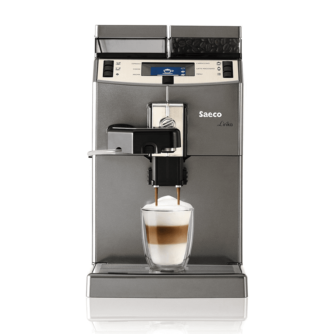 Saeco Lirika OTC RI9851/12 Anthracite⎮ Fully Automatic Espresso Machine