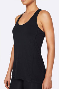 Organic Bamboo Eco Wear Women's Racer back Active Tank Black