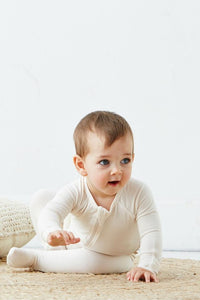 Neutral Baby Long Sleeve Onesie - Boody Baby Organic Bamboo Eco Wear