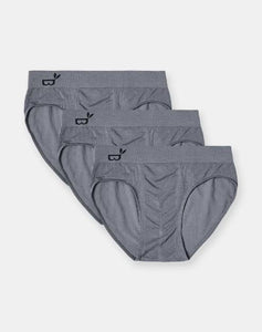 Boody Organic Bamboo Eco Wear Men's Briefs Gift Pack Grey