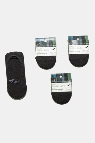 Men's Black Hidden Socks Gift Pack -Boody Organic Bamboo Eco Wear