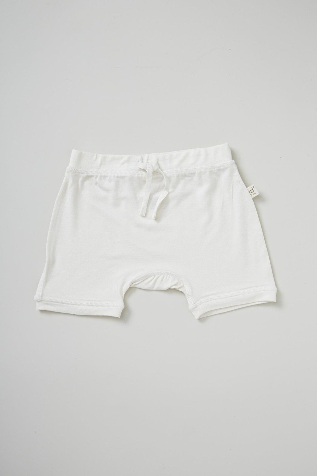 Baby Pull on Shorts Neutral - Organic Bamboo Eco Wear
