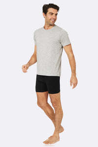 Boody Organic Bamboo Eco Wear Men's Crew Neck Light Grey