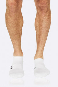 Boody Organic Bamboo Eco Wear Men's Active Sports Socks White