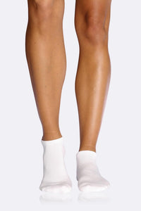 Boody Organic Bamboo Eco Wear Women's Sports Ankle Socks White