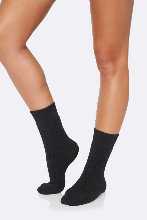 Boody Organic Eco Wear Women's Crew Boot Socks Black