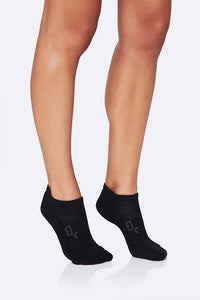 Boody Organic Bamboo Eco Wear Black Sports Ankle Socks