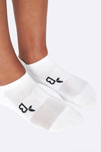 Boody Organic Bamboo Eco Wear White Sports Ankle Socks