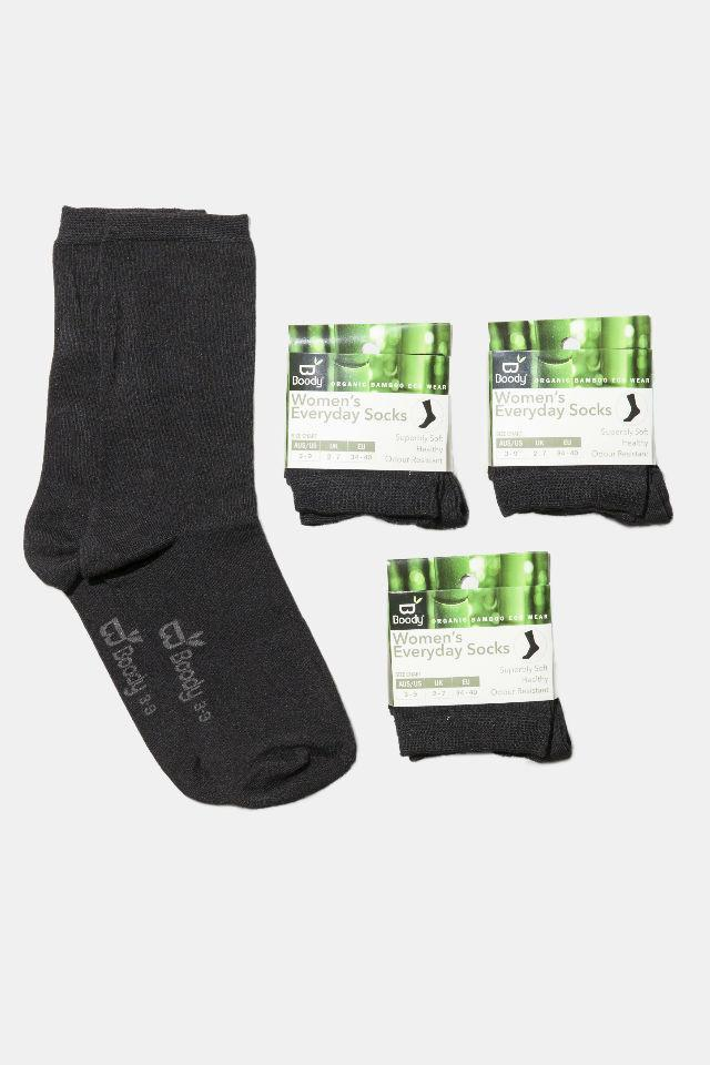 Women's Black Everyday Sock Gift Pack - Boody Organic Bamboo Eco Wear