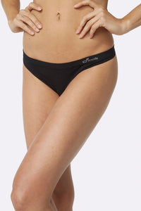Women's Black G-String - Boody Organic Bamboo Eco Wear