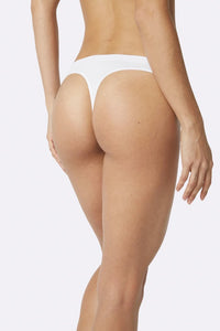 Women's White G-String - Boody Organic Bamboo Eco Wear