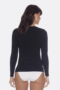 Women's Long Sleeve Black Top - Boody Organic Bamboo Eco Wear