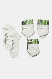 Women's Sports Ankle Socks White Gift Pack - Boody Organic Bamboo Eco Wear