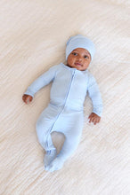 Load image into Gallery viewer, Blue Baby Long Sleeve Onesie - Boody Baby Organic Bamboo Eco Wear