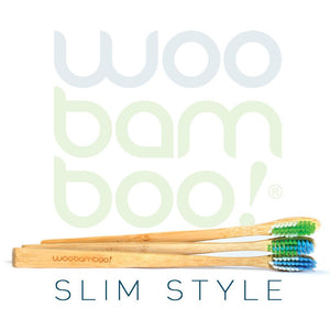 Adult Slim Bamboo Toothbrushes - 2 Pack