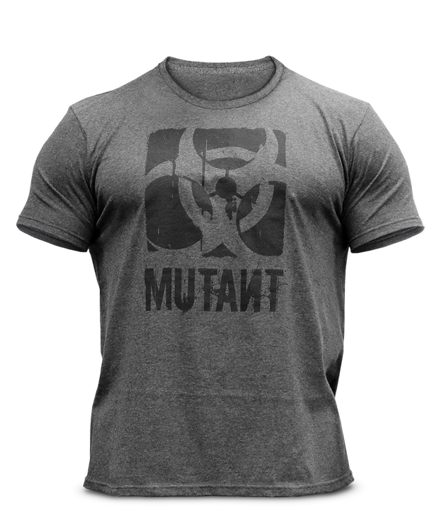 Legacy Grey Heather Logo Tee - MUTANT