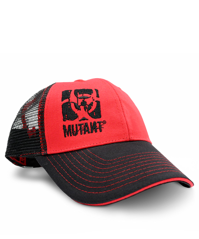 Red & Black Trucker Snapback Cap - MUTANT