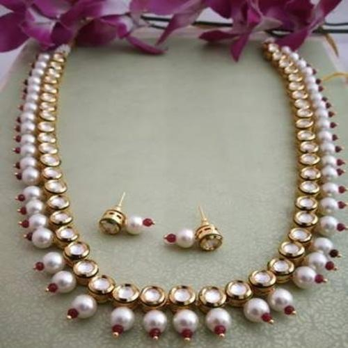 1 Line Kundan Necklace - Ishhaara