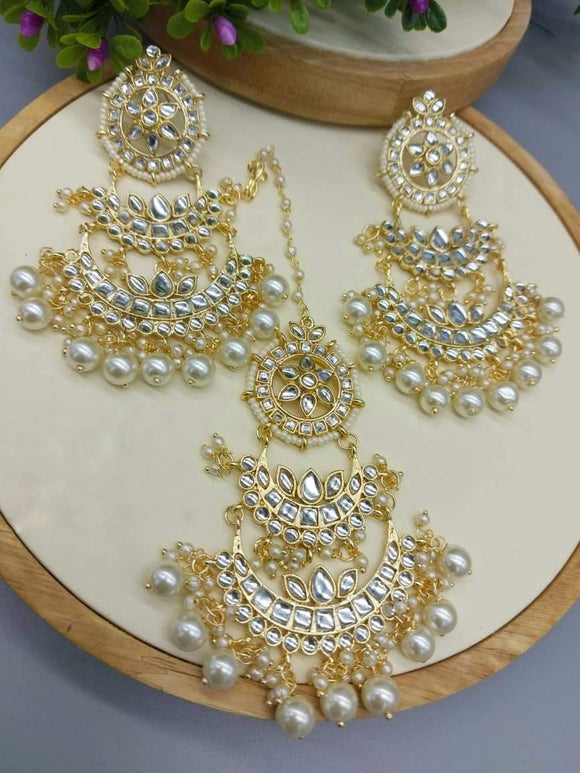 2 Layered Chand Earring And Teeka - Ishhaara