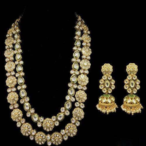 2 Layered Long Kundan Necklace 1