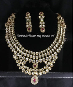 2 Layered Long Kundan Necklace - Ishhaara