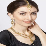 2 Line Kundan Necklace - Ishhaara