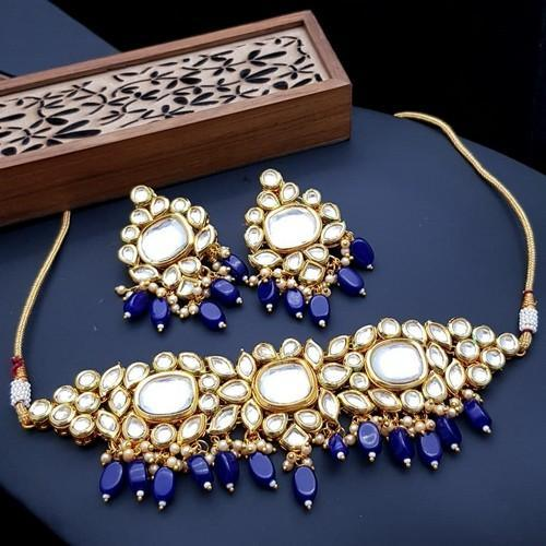 3 Big Kundan Choker Necklace Set