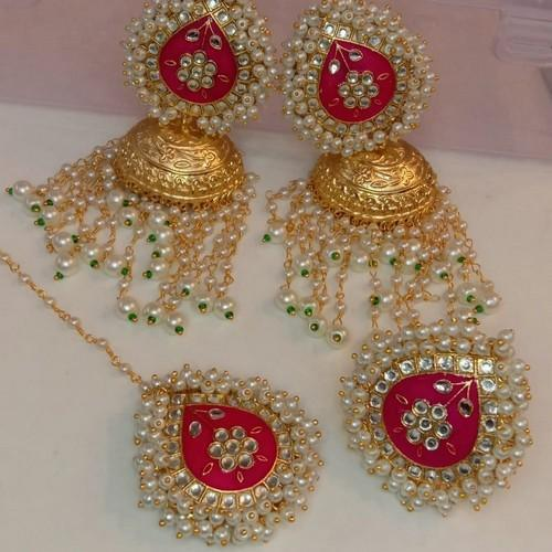 4 Piece Tikka Earring and Ring Set