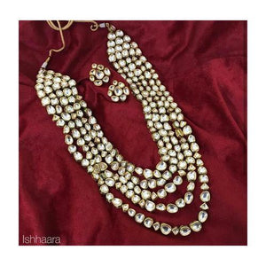 4 layered Abstract Kundan Necklace - Ishhaara