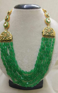 5 Layered Moti Meena Necklace - Ishhaara