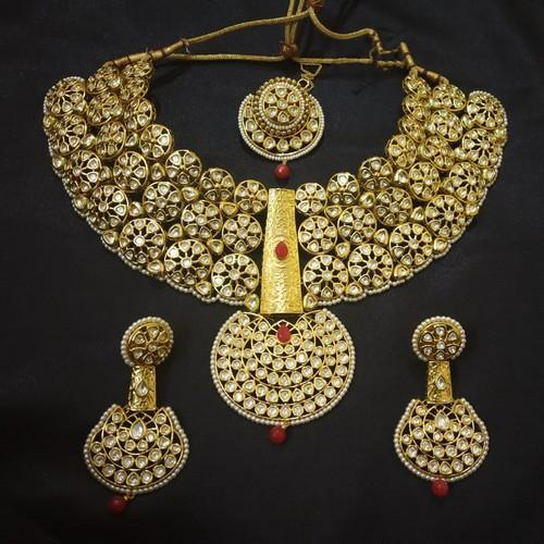 Antique Polki Bridal Necklace Set