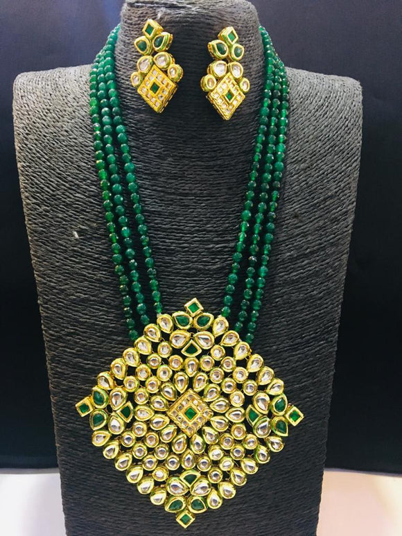 Big Diamond Pendant Necklace - Ishhaara