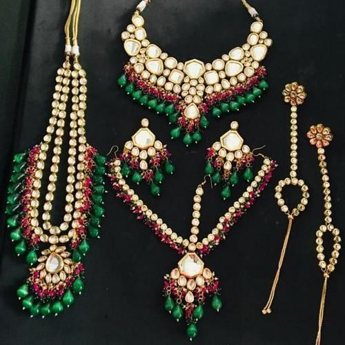 Big Kundan Full Bridal Set