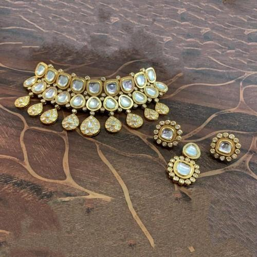 Big Kundan Jadau Drop Choker Set