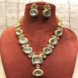 Big Kundan Meena Necklace