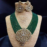 Big Kundan Pendant Necklace - Ishhaara