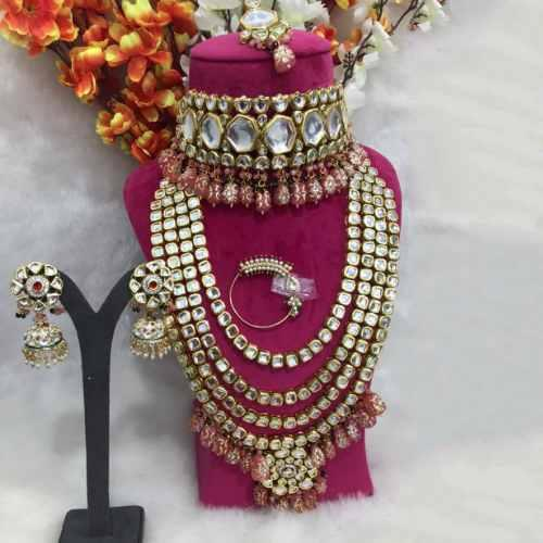 Big Kundan Bridal Choker Full Necklace Set